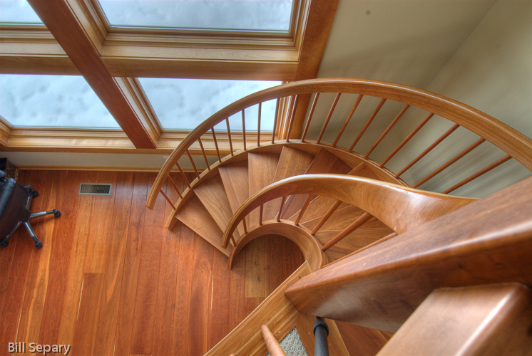Custom cherry stair