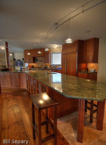 Granite counters with undermount sinks